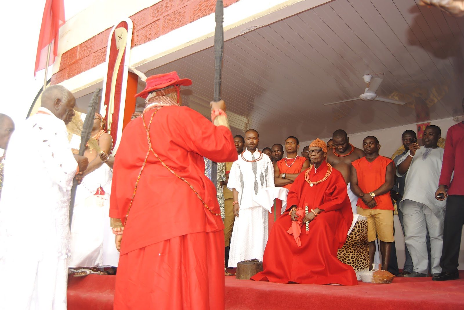 Paying Homage to the Oba of Benin during the 2011 Igue Festival